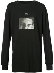 Song For The Mute Printed T Shirt Cotton Black
