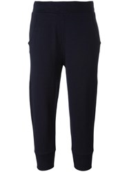 Vince Cropped Joggers Blue