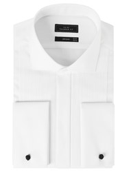 John Lewis Pleat Front Tailored Fit Dress Shirt White