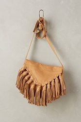 Anthropologie Lee Fringed Crossbody Bag Sand