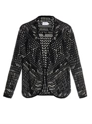 Velvet By Graham And Spencer Siani Jacquard Cardigan