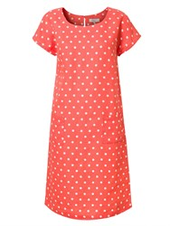 East Linen Spot Pocket Shift Dress Apricot