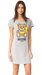 Moschino T Shirt Cover Up Dress Grey Melange