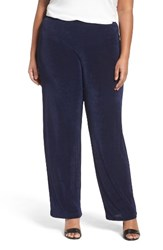 Vikki Vi Plus Size Women's Pull On Pants Navy