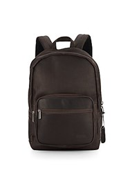 Kenneth Cole Reaction Columbian Leather Backpack Brown