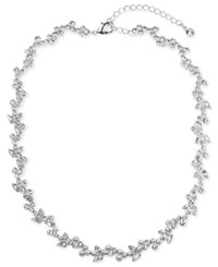 Givenchy Flower Collar Necklace Silver