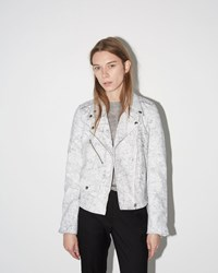 Maison Martin Margiela Crackle Leather Jacket White