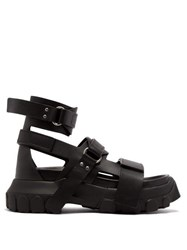 Rick Owens Tractor Sole Leather Sandals Black
