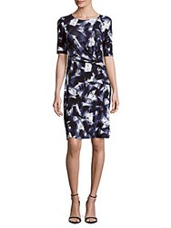 Lafayette 148 New York Twisted Front Printed Dress Multicolor