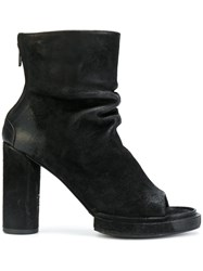 The Last Conspiracy Open Toe Ankle Boots Women Horse Leather Leather 38 Black