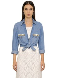 Forte Couture Thelma Embellished Denim Shirt