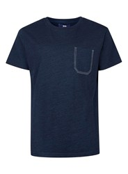 Topman Blue Wood Wood Navy T Shirt