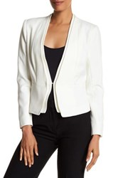 Catherine Malandrino Dual V Neck Fully Lined Jacket White