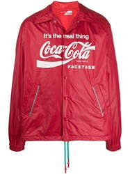 Facetasm X Coca Cola Shiny Finish Jacket Red