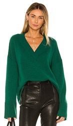 Autumn Cashmere Boxy Wide Sleeve Sweater In Green. Astroturf