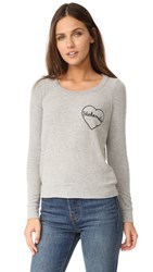 Chaser Weekend Love Sweatshirt Heather Grey