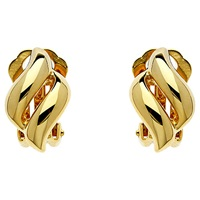 Finesse Plated Diamond Shape Earrings Gold