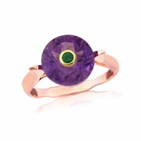 Maiko Nagayama Amethyst And Emerald Pink Gold Ring Red Green Rose Gold