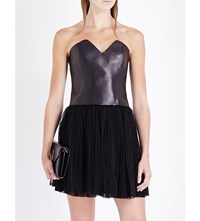 Saint Laurent Sweetheart Leather Bustier Blk