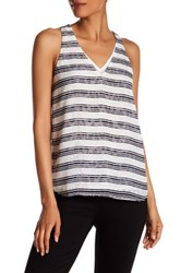Cooper And Ella Tori Deep V Neck Tank White