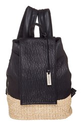 Urban Originals 'Dune Diamond' Faux Leather And Straw Backpack