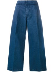 Marni Cropped Wide Leg Jeans Blue