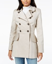 Maison Jules Peplum Detail Trench Coat Created For Macy's Oxford Tan