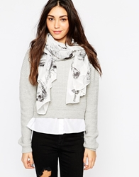 Esprit Butterfly Wrap Scarf Black