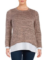 Marc New York Mock Layered Space Dyed Tunic Pink