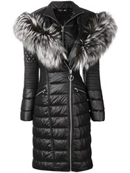 Philipp Plein Padded Parka Coat Black