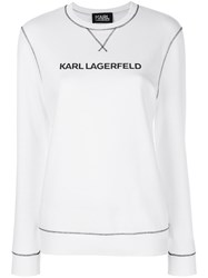Karl Lagerfeld Karl's Essential Sweatshirt White