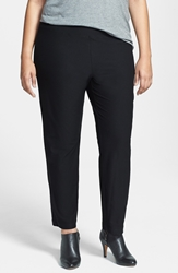 Eileen Fisher Crepe Ankle Pants Plus Size Black
