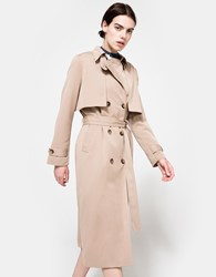 Ganni Brown Coat Praline