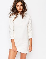 Missguided Hooded Sweat Dress White