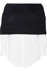 Jacquemus Stretch Knit And Stretch Cotton Poplin Top