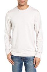 Velvet By Graham And Spencer Men's General Luxe Fleece Sweatshirt Pale