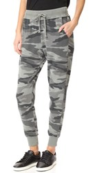 Splendid Camo Sweatpants Vintage Military Olive