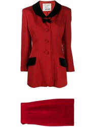 Moschino Pre Owned '90S Two Piece Suit Red