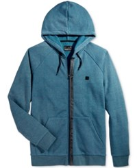 Tavik Men's Zip Up Hoodie Heather Blue