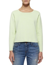 J Brand Ready To Wear Alex Long Sleeve Stretch Knit Sweater Lime