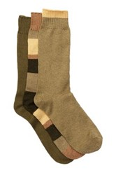 Lucky Brand Crew Cut Socks Pack Of 3 Green