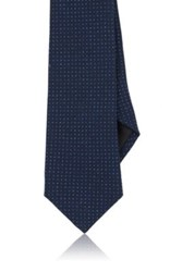 Ralph Lauren Black Label Men's Dot Print Faille Necktie Blue