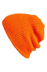 Men's The Rail Reversible Beanie Grey Char Heather Orange