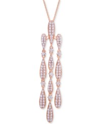 Wrapped In Love Diamond Chandelier Pendant Necklace 3 4 Ct. T.W. 14K Rose Gold Created For Macy's