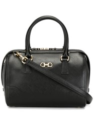 Salvatore Ferragamo Small Structured Tote Black