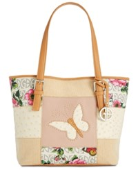 Giani Bernini Patchwork Medium Tote Created For Macy's Ivory Multi