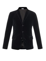 Tomas Maier Single Breasted Velvet Blazer