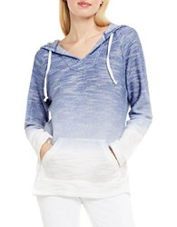Vince Camuto Shibori Dip Dye Hooded Pullover Blue