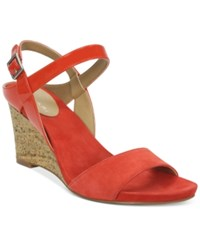 Tahari Fun Strappy Wedge Sandals Women's Shoes Energy Orange