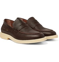 Common Projects Pebble Grain Leather Penny Loafers Dark Brown